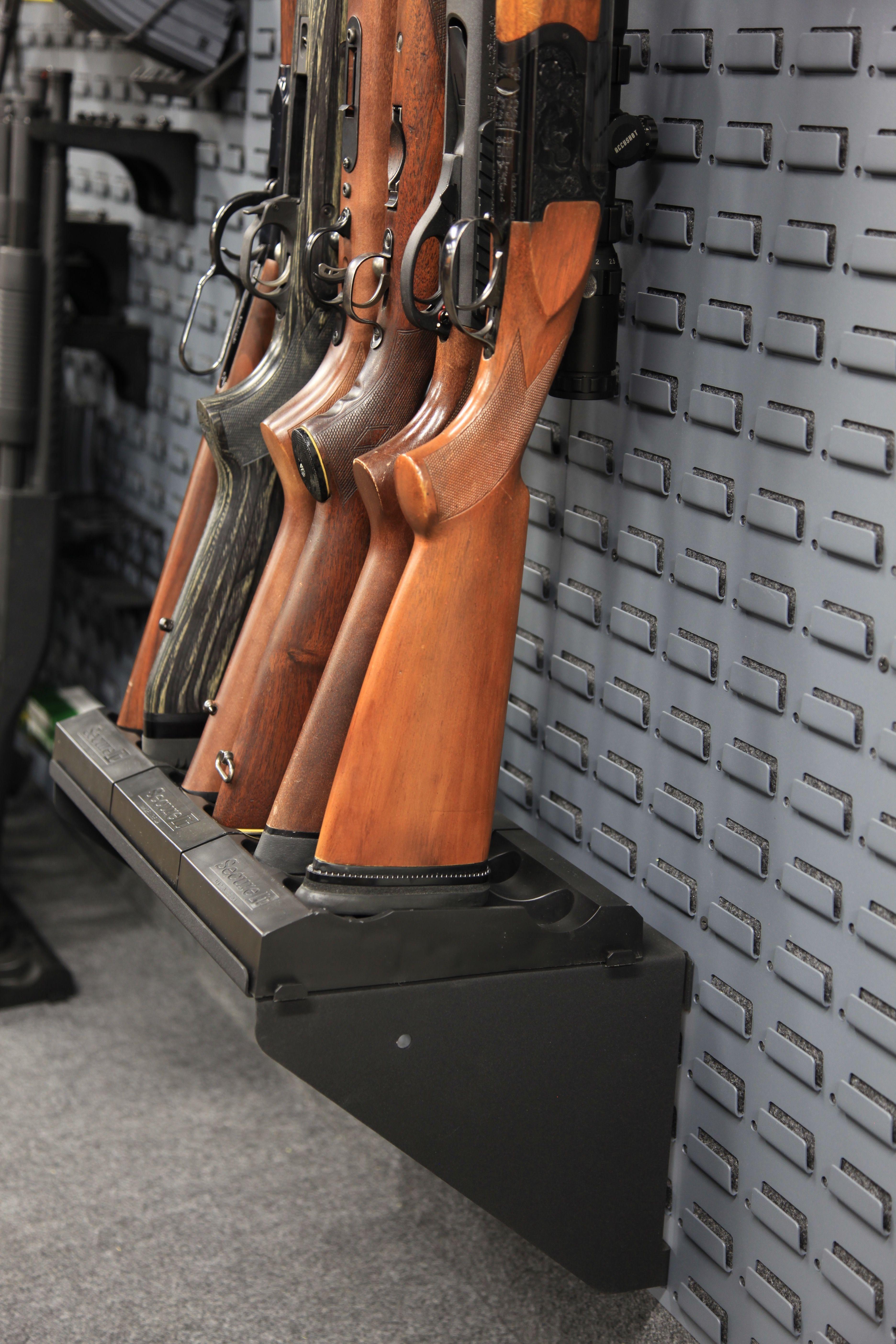 Elevate your firearm storage with the SecureIt Stock Base Shelf patible with all CradleGrid products · Nerf Gun StorageWeapon StorageHidden Gun SafeGun