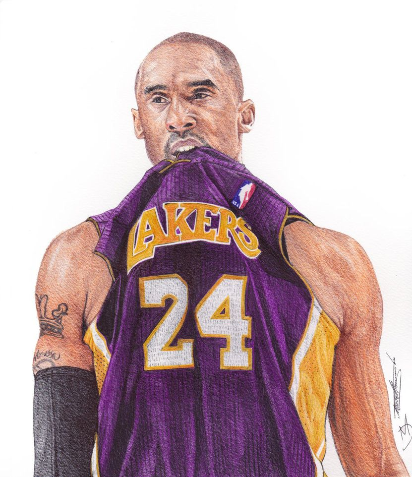 Kobe Bryant Ballpoint Pen Drawing By Demoose21 With Images
