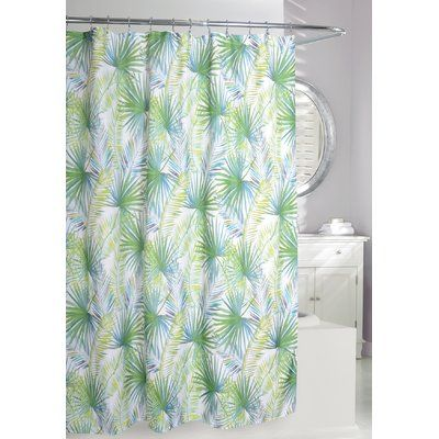 Moda At Home Palm Tree Single Shower Curtain Tree Shower