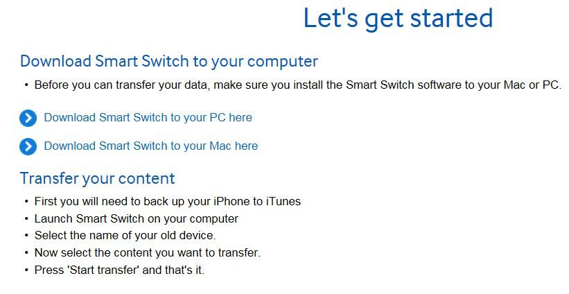 Smart switch for pc download old version   Samsung Smart