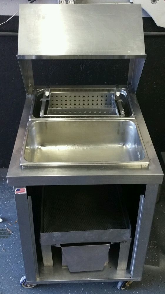 Stainless Steel Breading ,Batter Station Perfect for Fried Chicken