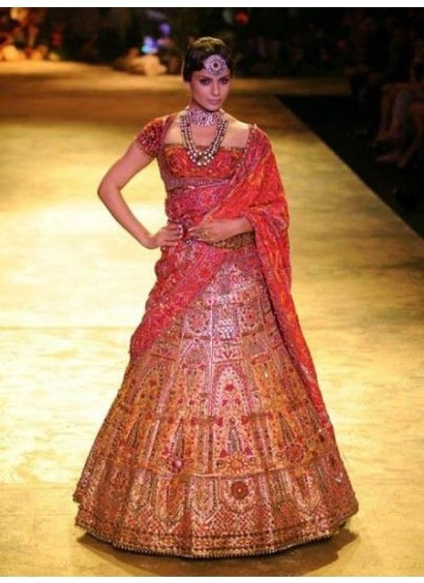 Image result for red gold brocade lehenga