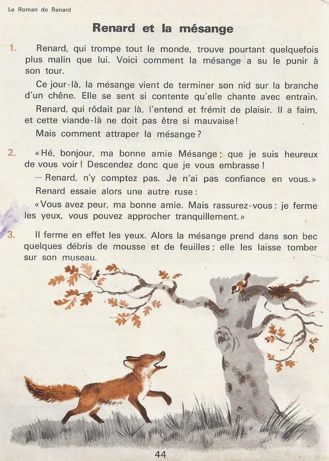 4 Aventures De Renard Le Roman De Renart Roman De Renart Renard Texte En Francais
