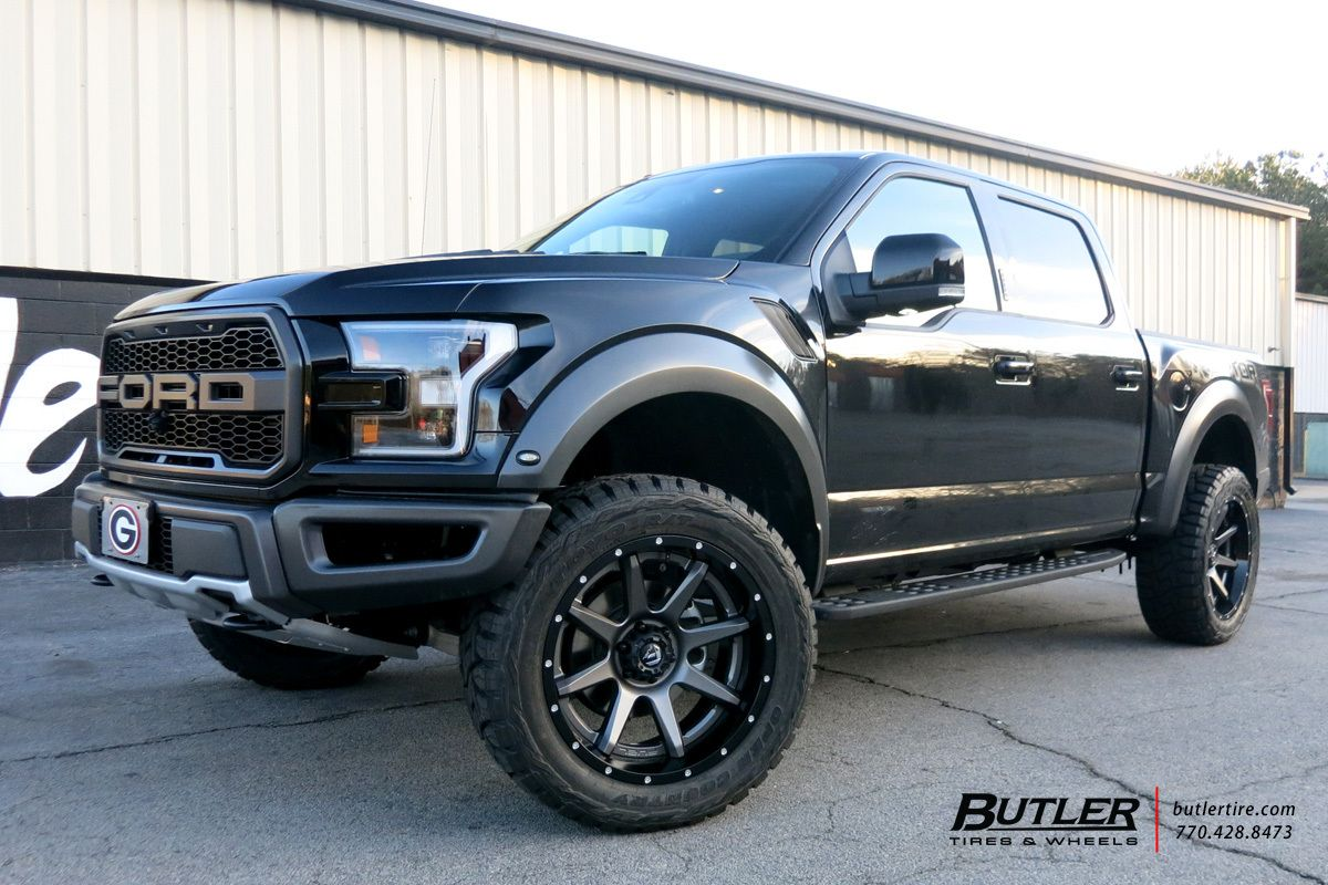 Ford Raptor With 22in Fuel Rampage Wheels Ford Trucks Truck