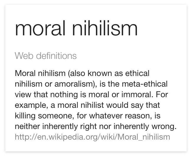 Moral Nihilism Http En M Wikipedia Org Wiki Moral Nihilism