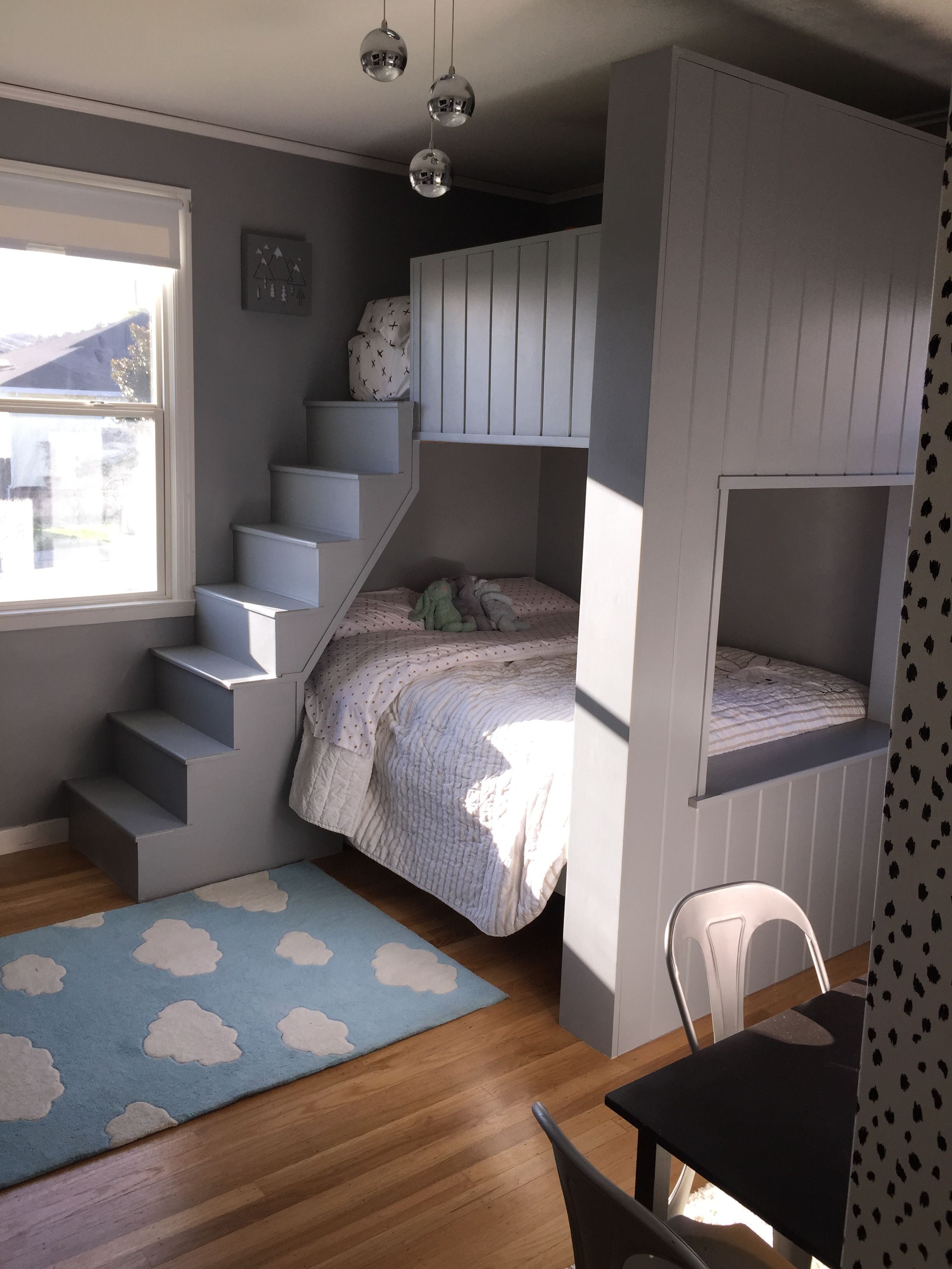 Bunk beds. Twin on top and full on the bottom. bunkbed