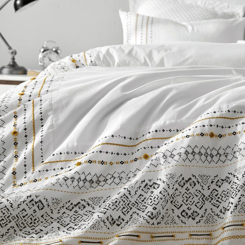 Jamaa Stitched Duvet Cover Set Joss Main Duvet Cover Master Bedroom Duvet Covers Duvet Cover Sets