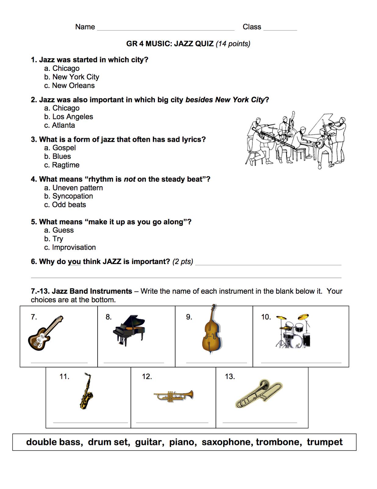 Jazz Quiz