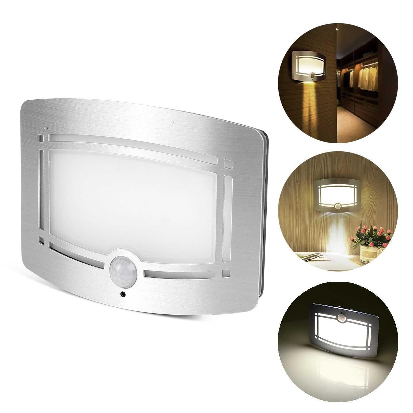 Motion Sensor Activated Led Wall Sconce Battery Operated Wireless Night Light Auto On Off For Hallway Wireless Night Light Sensor Night Lights Led Wall Lights