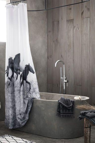 Duschvorhang Mit Fotodruck Badezimmer Accessoires Badematte Und
