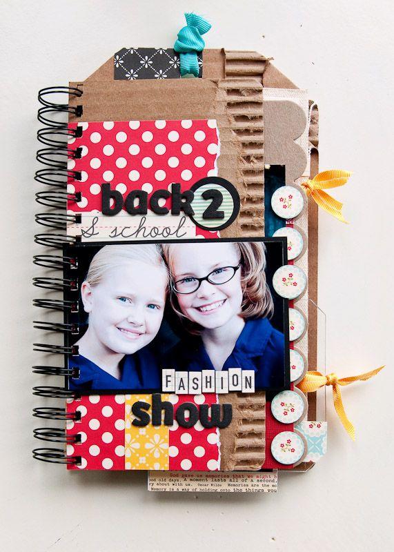 Back to School Fashion Show - Mini Album {cover} - Scrapbook.com