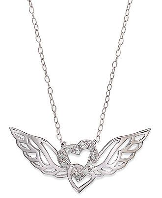 Sterling Silver Antiqued Double Wings Pendant