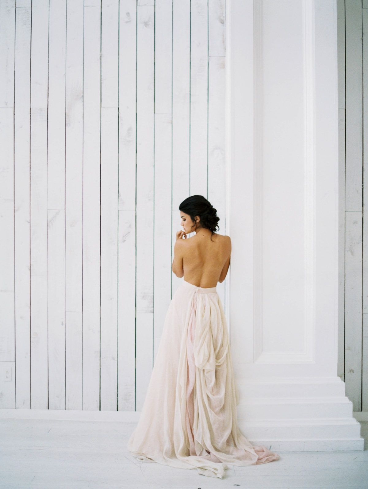 Soft texture meets moody romance at the white sparrow barn wedding
