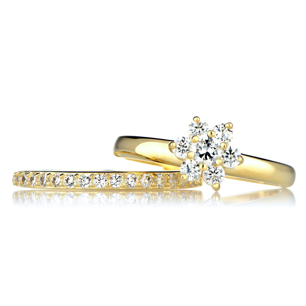 pictures gallery of gold wedding ring set - Gold Wedding Ring Sets