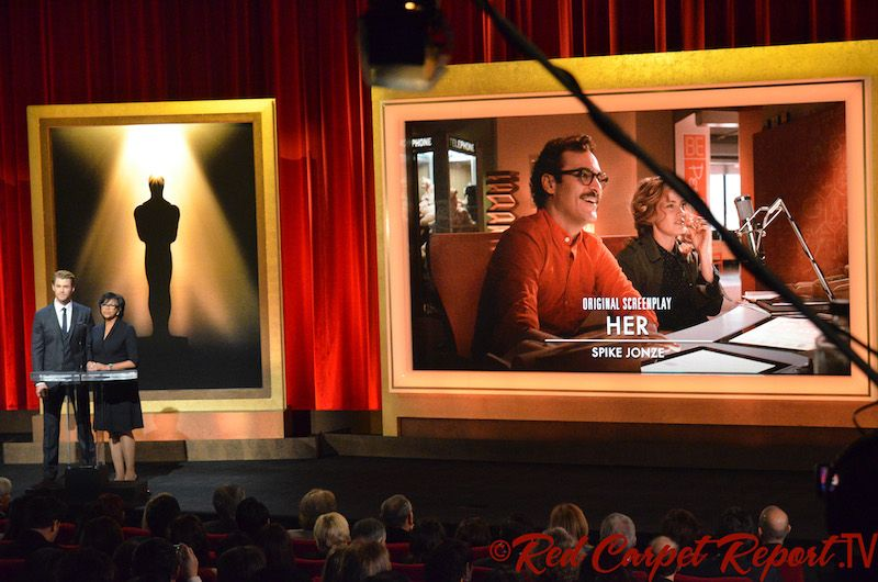 Best Picture Nominee: #Her 2014 Oscar Nominations + Complete Nominee List #Oscars and LIVE Nomination Video Tell us who your favorite nominated Film, Actor or Actress is below.  http://www.redcarpetreporttv.com/2014/01/16/red-carpet-report-talks-to-leonard-maltin-about-2014-oscar-nominations-complete-nominee-list-oscars/