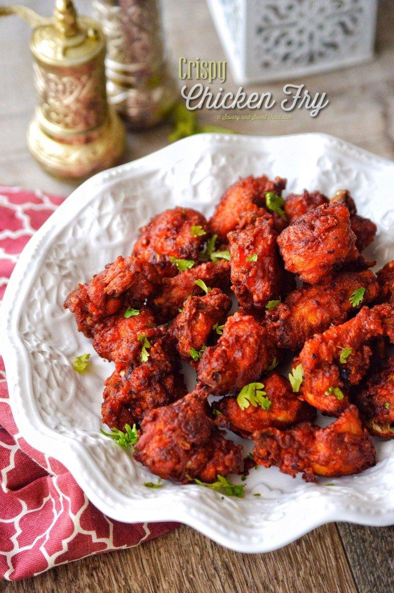 Crispy Chicken Fry Savory Sweetfood Recipe Indian Chicken Recipes Fried Chicken Recipes Chicken Snacks