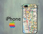 Nyc Subway Map Iphone 5 Case.Iphone 5 Case Nyc Manhattan Subway Map Iphone By Thecasefactory