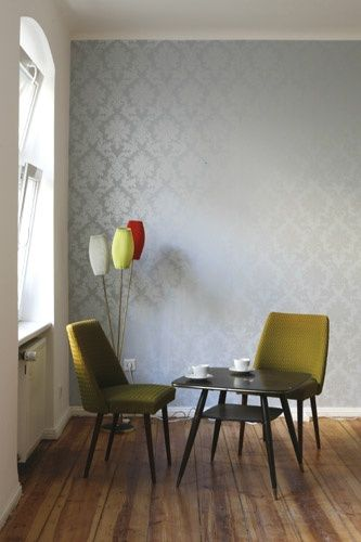 Berlin Nest apartments...wallpaper is amazing.