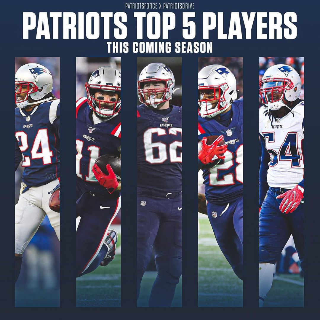 Patriots Force And I Teamed Up To Name Our Top 5 Patriots Players For This Upcoming Season In 2020 New England Patriots Patriots Go Pats