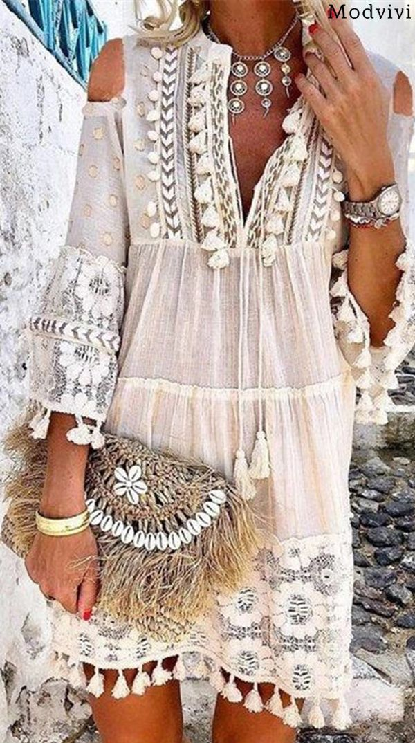 Photo of Hot Sale! 65% OFF, Bohemian Summer Holiday Daily Mini Dress #ootd