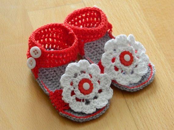 Sandalias bebe, Crochet, Ropa