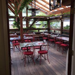 Robin's Restaurant - Cambria, CA, United States. Patio seating