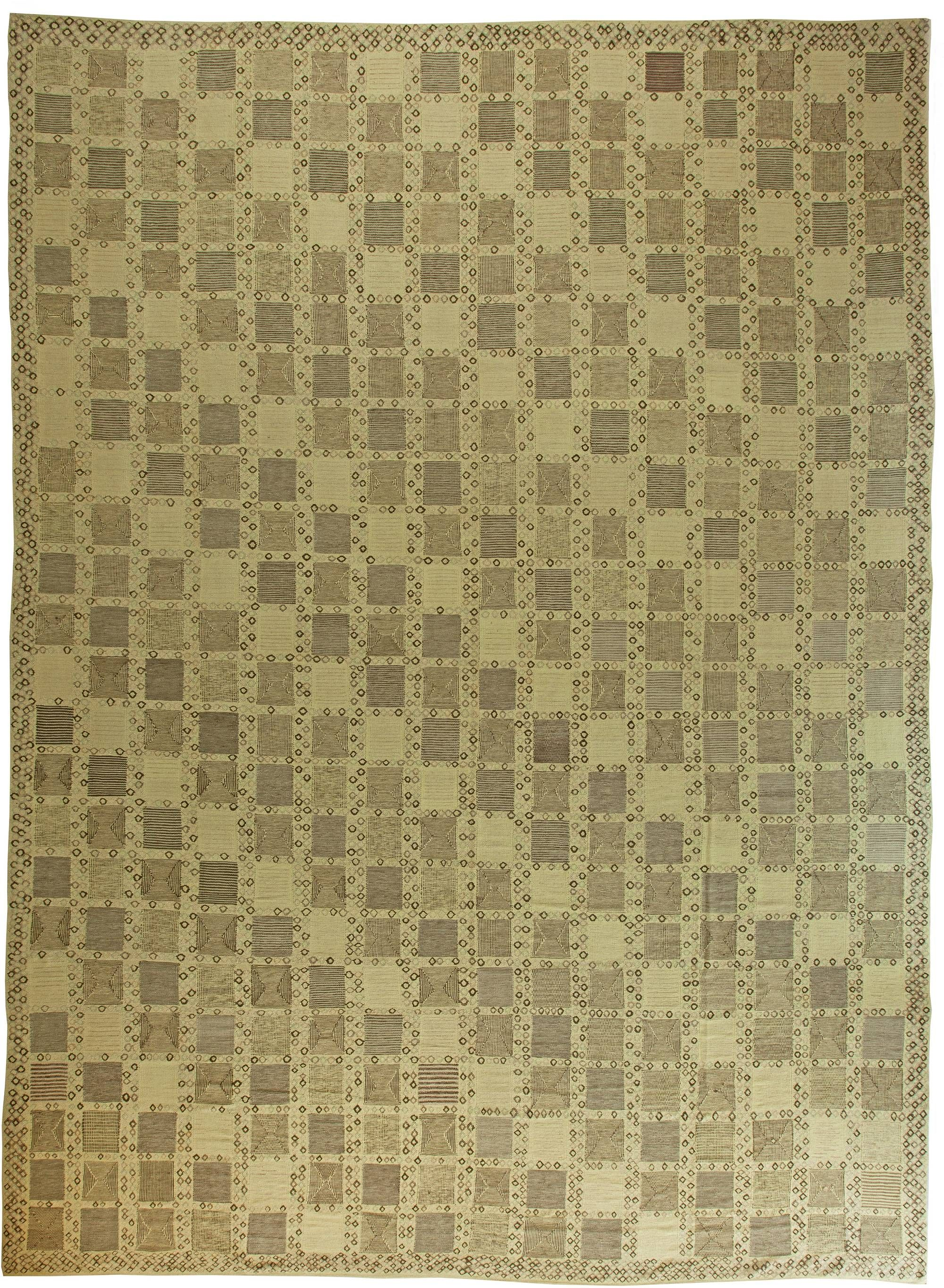 Swedish Rugs Scandinavian Geometric Green Rug From Doris Leslie Blau Features Hand Knotted Wool Pattern Swedishrug