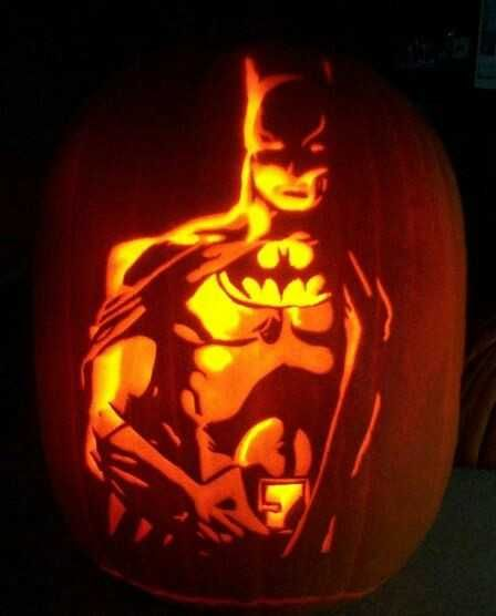 Superhero Pumpkins Imgur Pumpkin Carving Batman Pumpkin