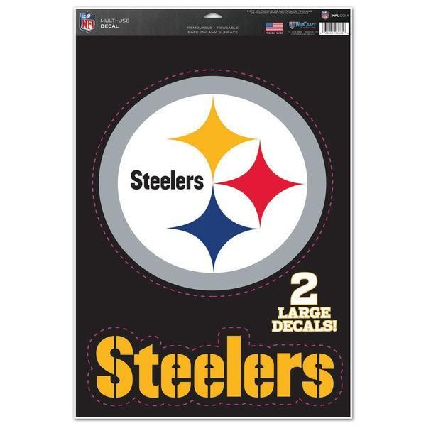 3ef8f404f3e Pittsburgh Steelers Decal 11x17 Multi Use Logo Design 2 Decals ...