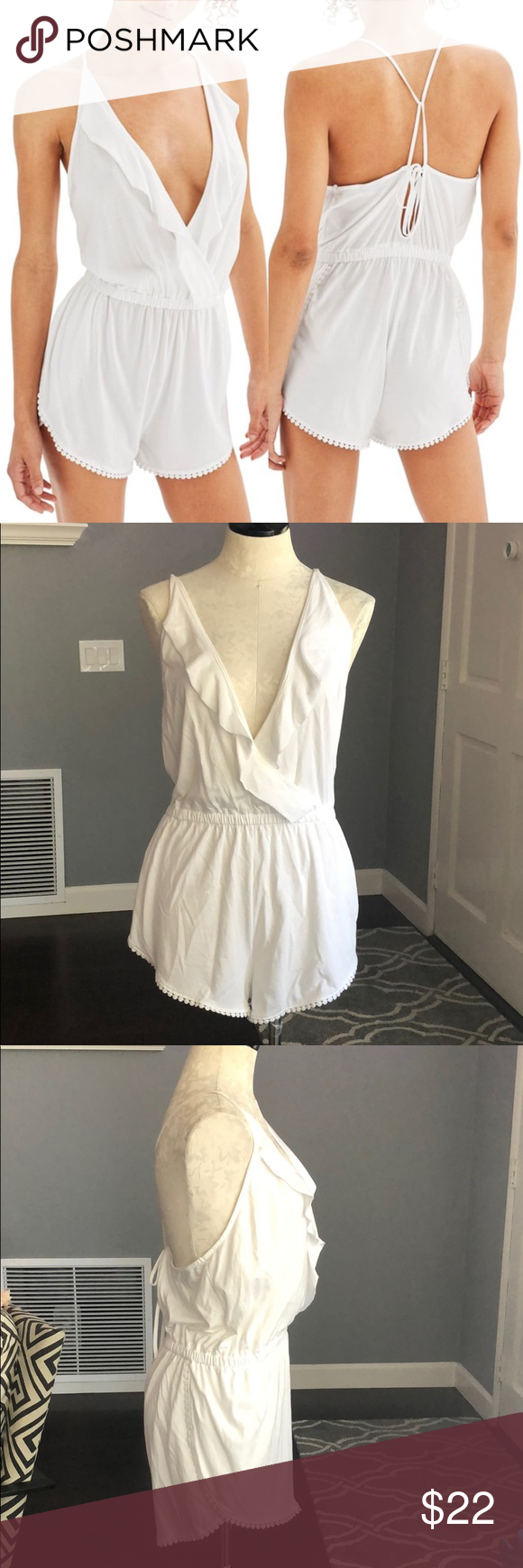 30c681735ebb Topshop Jersey Wrap Cover Up Romper New with tag. Topshop romper size US  8-10. A one-and-done post-beach outfit is made of soft