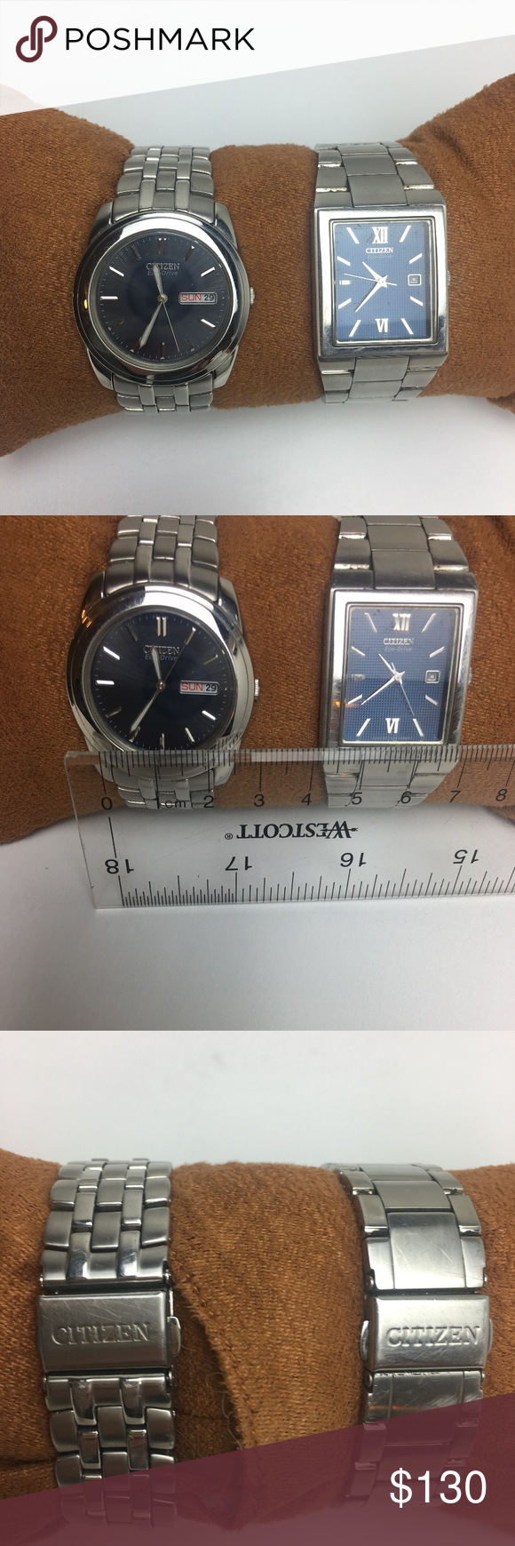 Spotted while shopping on Poshmark GUC MENS CITIZEN STAINLESS STEAL WATCH BUNDLE
