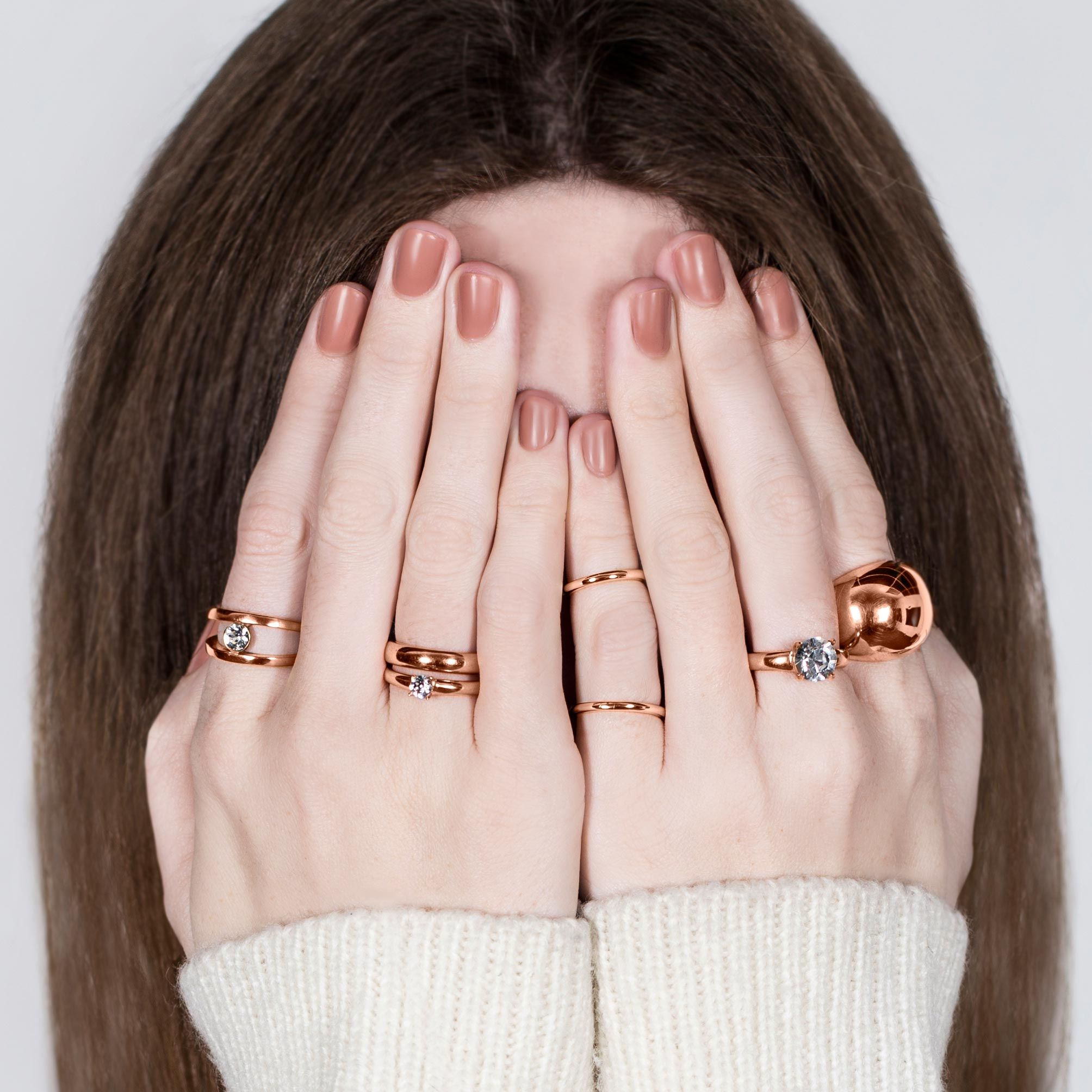 migliostyle Rose Allure stacked rings