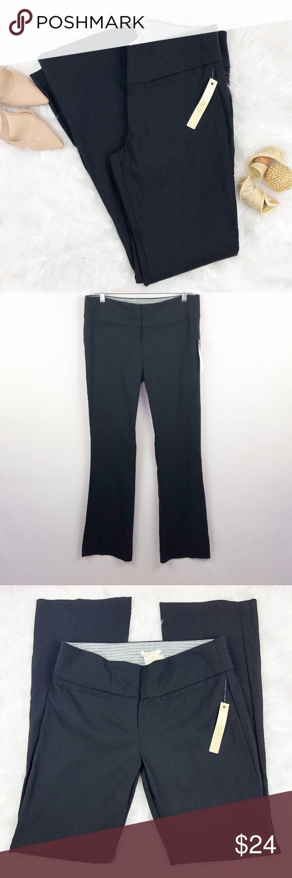 Nwt Matty M Fitted Bootcut Dress Pants Stylish Pants Pants Work Wardrobe [ 1740 x 580 Pixel ]