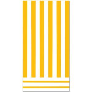 Sunflower Yellow Striped Table Cover - 324848 | Party-ify! #stripes #yellowstripes #tablecovers #partysupplies #tableware #stripedtableware