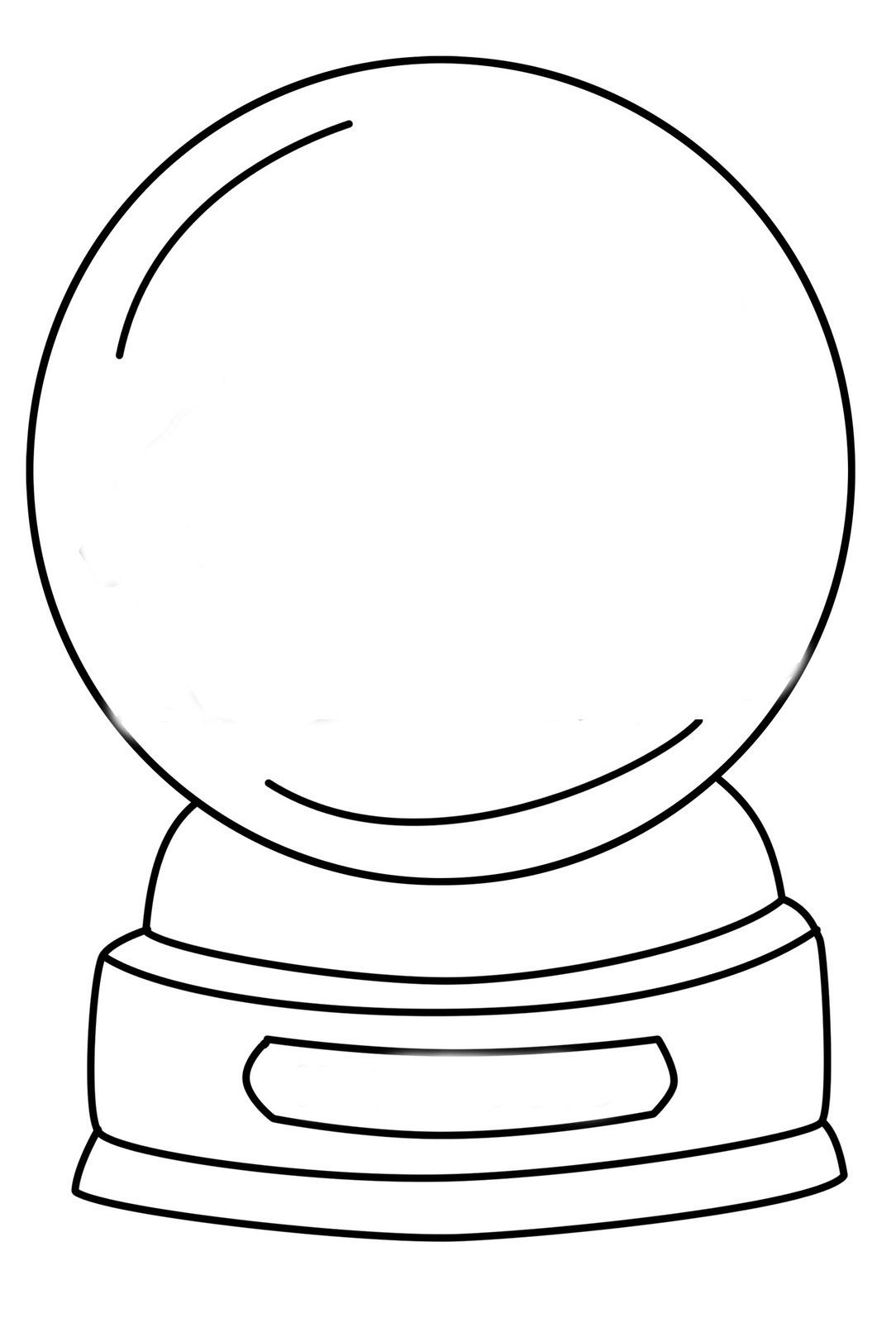 crystal ball coloring pages | Snow Globe Template Printable | Christmas globes ...
