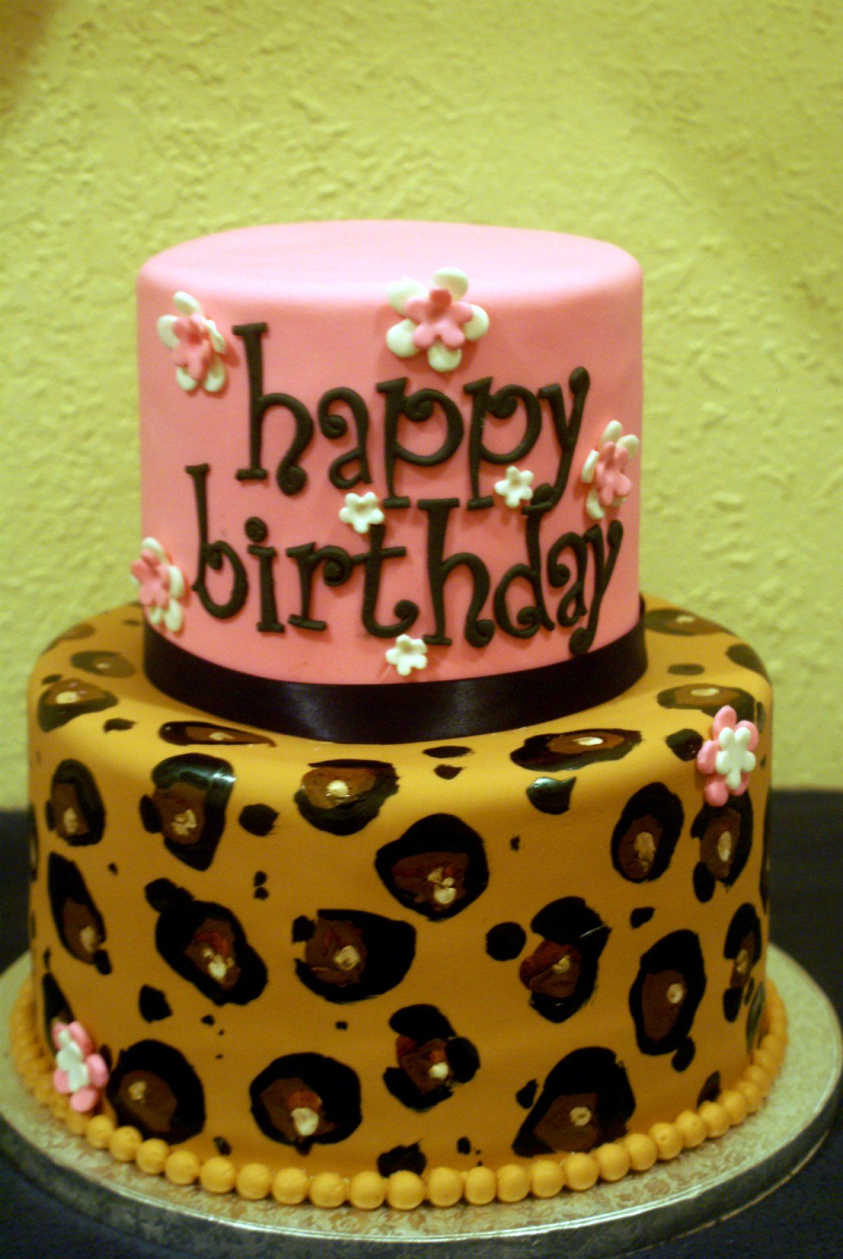 leopard print birthday cakes Google Search Decorating Cakes