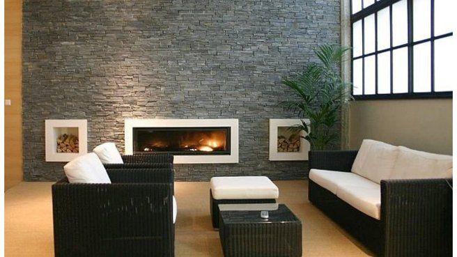 pierres de parement mural pour donner du caract re son int rieur m6 salon pinterest. Black Bedroom Furniture Sets. Home Design Ideas