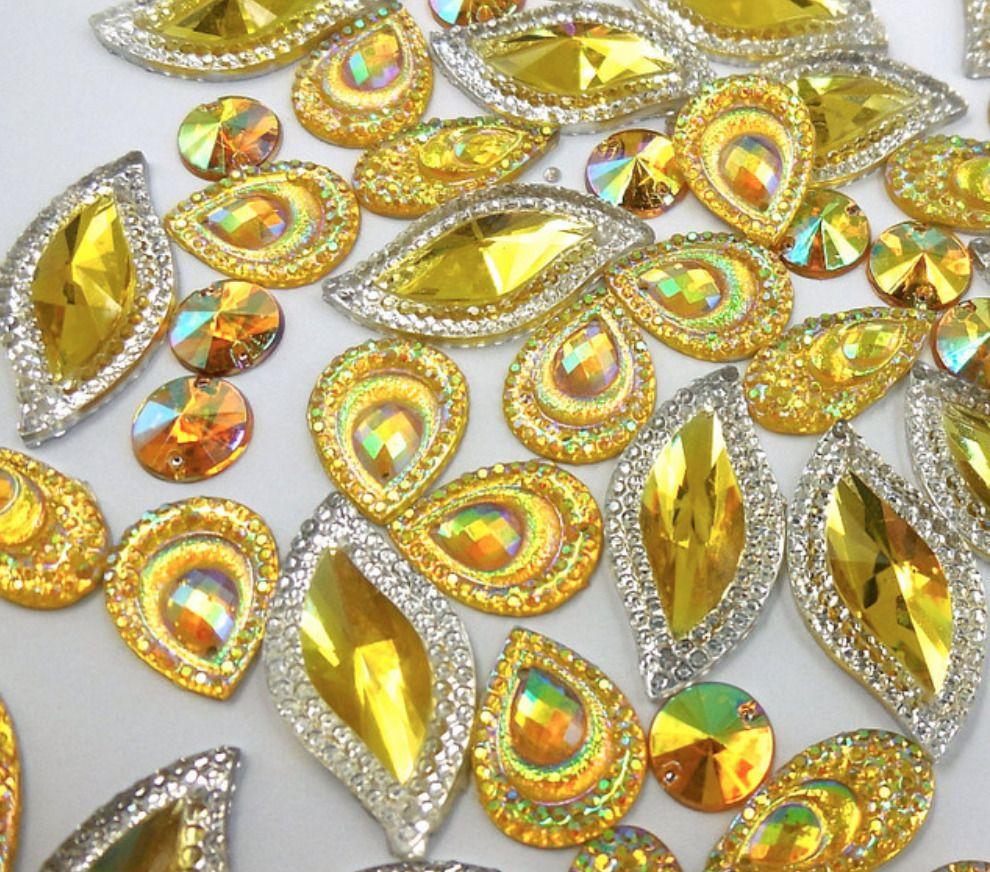 Amber High quality Hot Fix//Iron on Crystal DIAMANTE Rhinestones