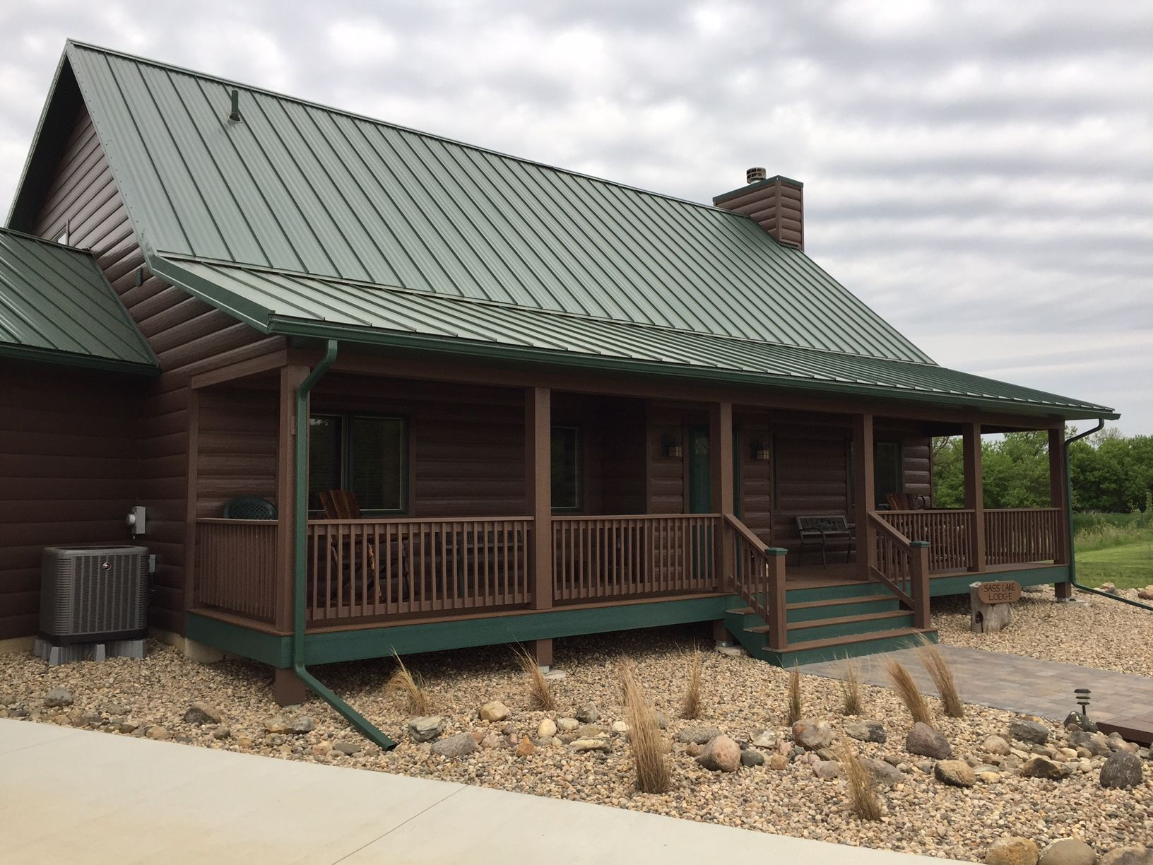 Trulog Steel Siding Standard Autumn Brown Color Log Cabin On The Lake Log Cabin Exterior Cabin Exterior Colors Steel Siding