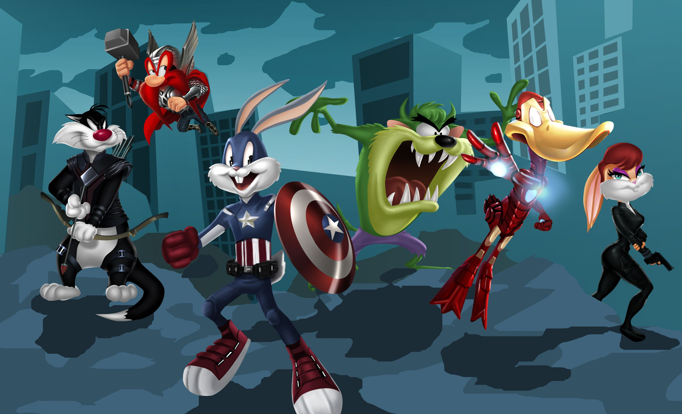 Avengers Pinterest: The Looney Tunes Suit Up As Marvel's The Avengers!