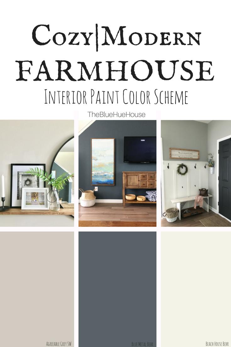A Cozy Modern Farmhouse Color Scheme  The Blue Hue House