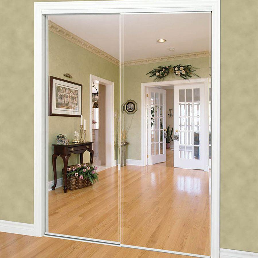 Shop Reliabilt White Mirrored Sliding Door Common 60 In X 80 5