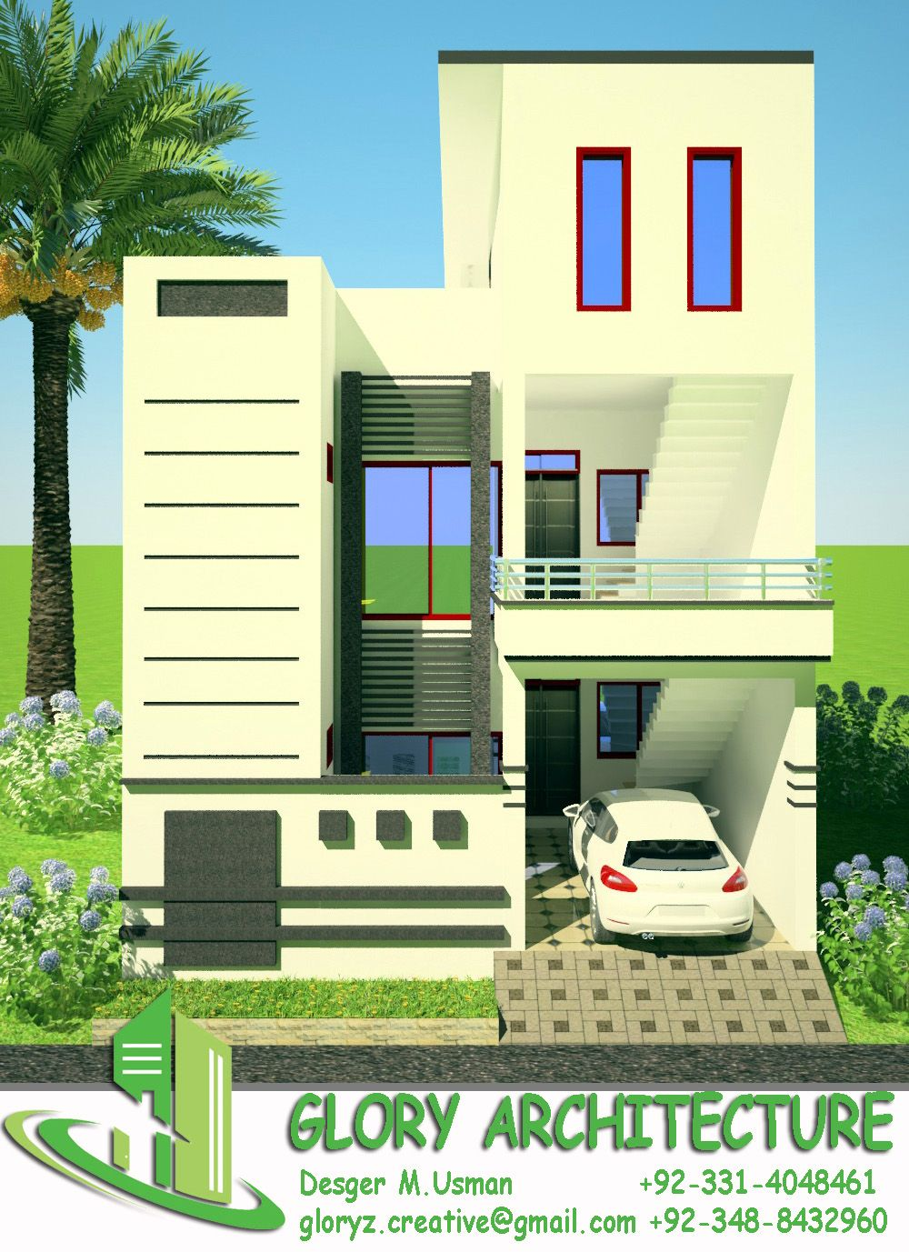 House map duplex house front elevation designs house elevation 5 marla house