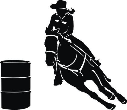 free girl barrel racing silhouette - Google Search ...