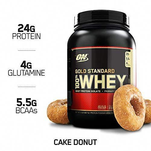 Amazon Subscribe and Save Deal: OPTIMUM NUTRITION GOLD STANDARD 100% Whey Protein Powder, Cake Donut...