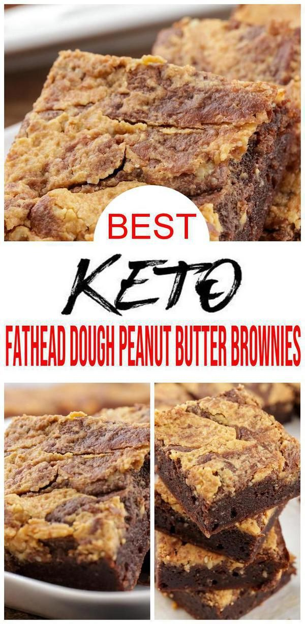 Keto Brownies! BEST Low Carb Fathead Dough Fudgy Chocolate Peanut Butter Brownie Idea – Quick & Easy Ketogenic Diet Recipe – Keto Friendly & Beginner – Desserts – Snacks