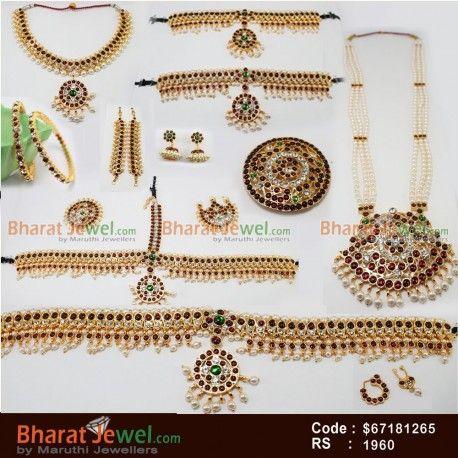 000ed5fc08 Bharatanatyam Jewelry Set   Dance Jewellery Online in 2019 ...