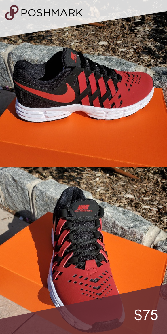 Nike Lunar White And Red Running Shoes Outlet Online