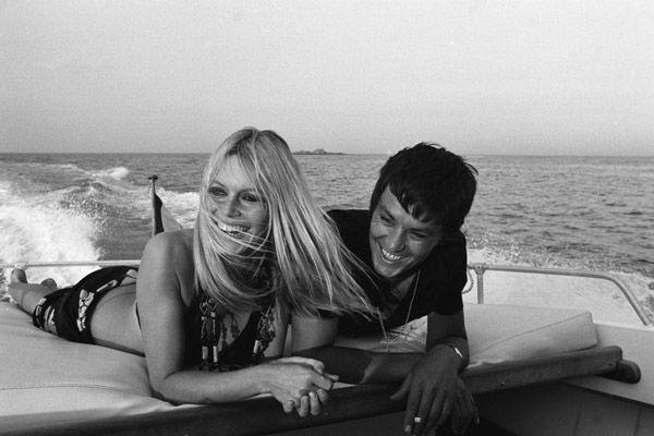 Brigitte Bardot And Alain Delon In St Tropez 1968 One Of The