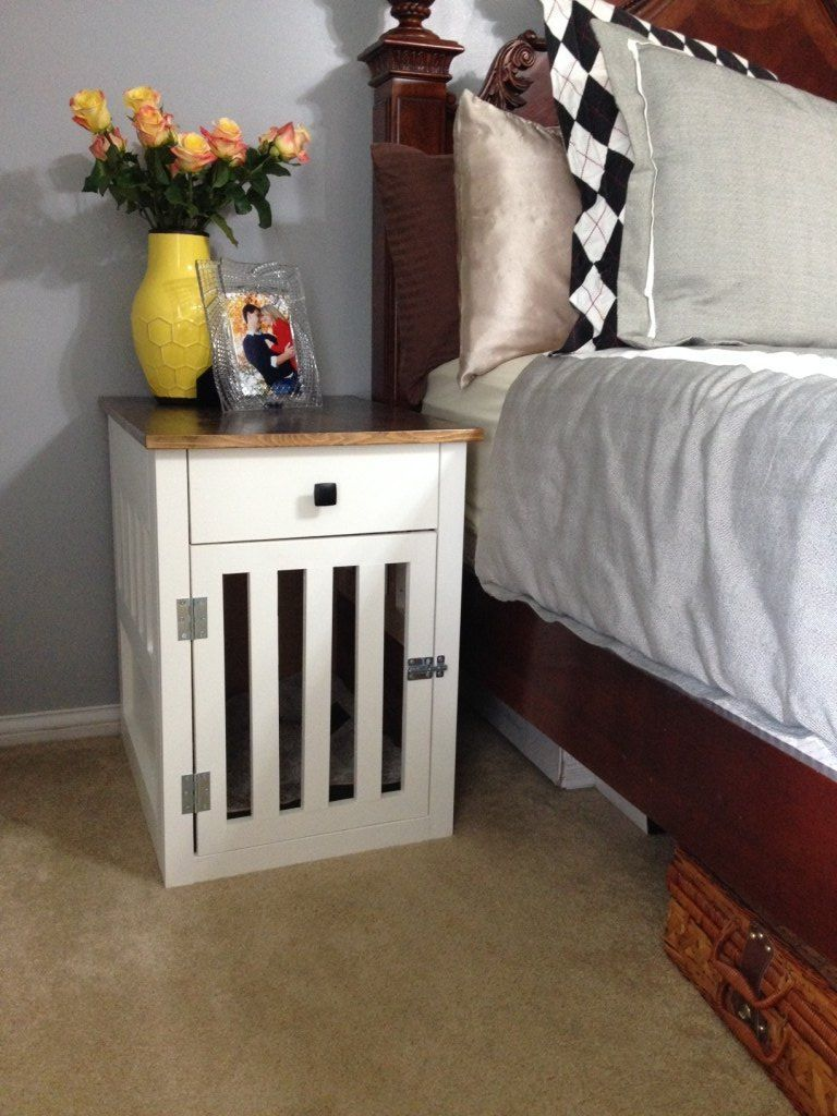 Going to the dogsdiy dog crate nightstands with images
